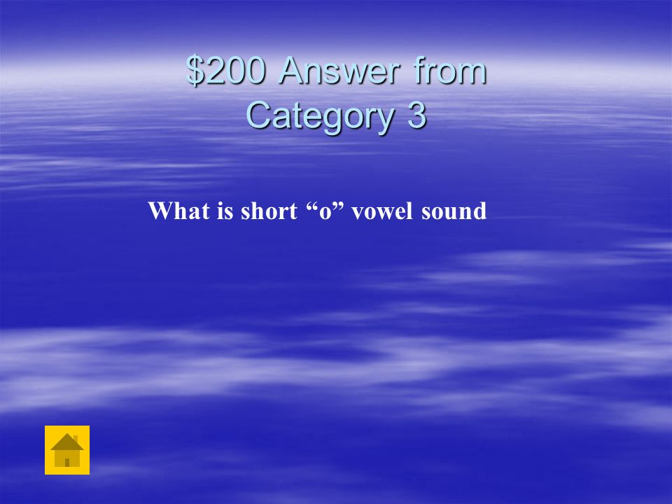 $200 Question from Category 3 The word top