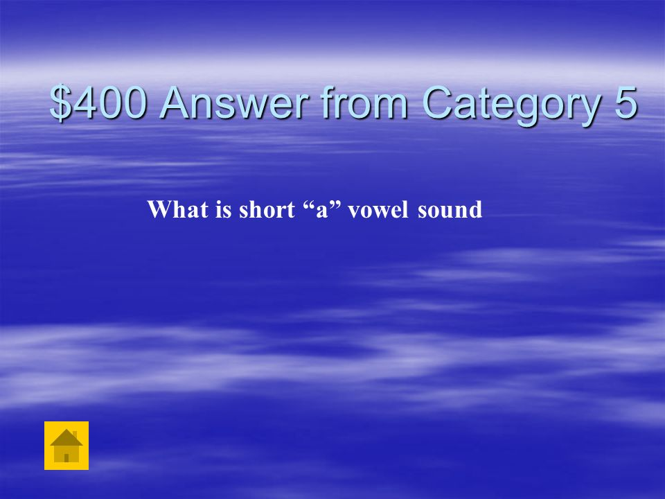 $400 Question from Category 5 The word class