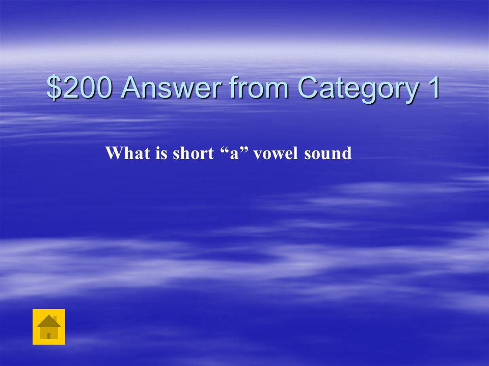 $200 Question from Category 1 The word sat