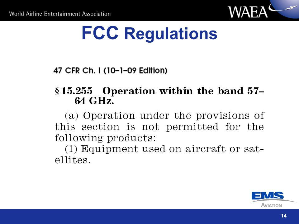 14 FCC Regulations