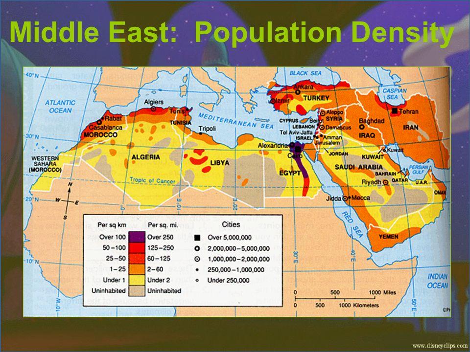 Middle East: Population Density