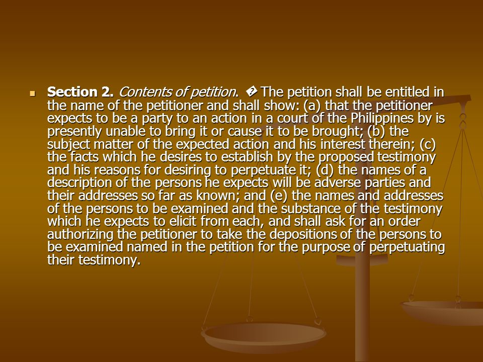 Section 2. Contents of petition. The petition shall be entitled in the name of the petitioner and shall show: (a) that the petitioner expects to be a