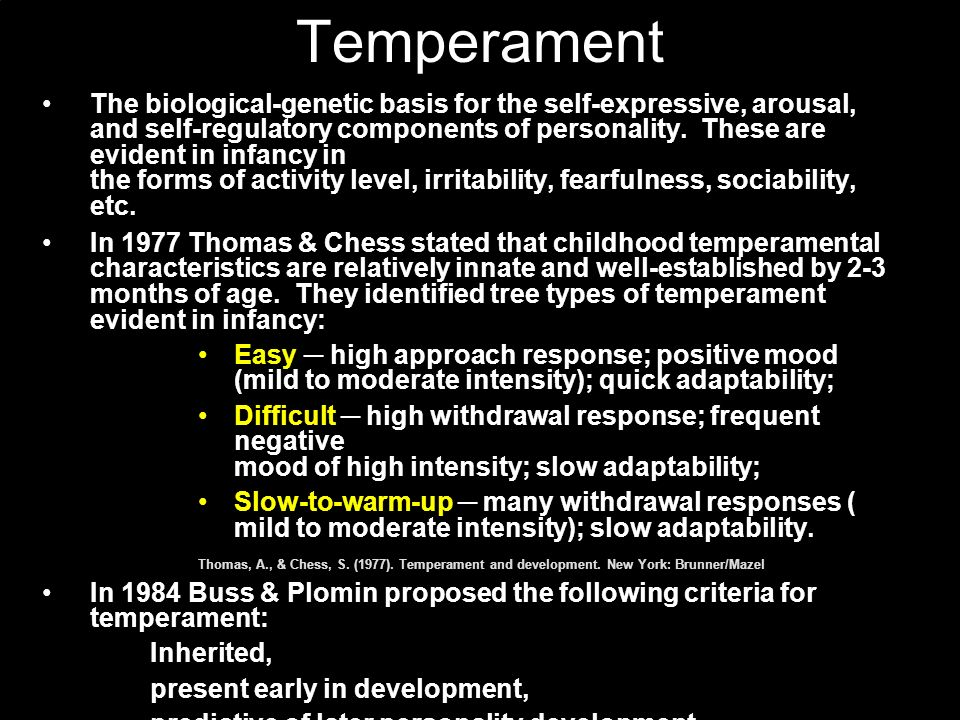 Emotions are rapidly differentiated from an initial capacity for excitement (K.M.B. Bridges, 1932). Today, there is great interest in genetically dete