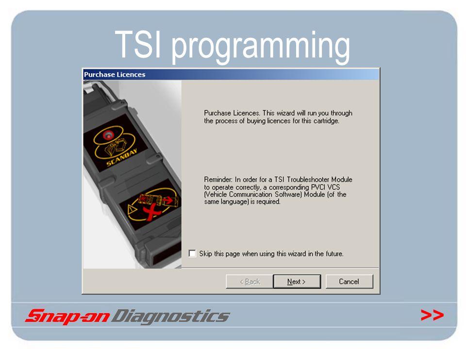 >> TSI programming