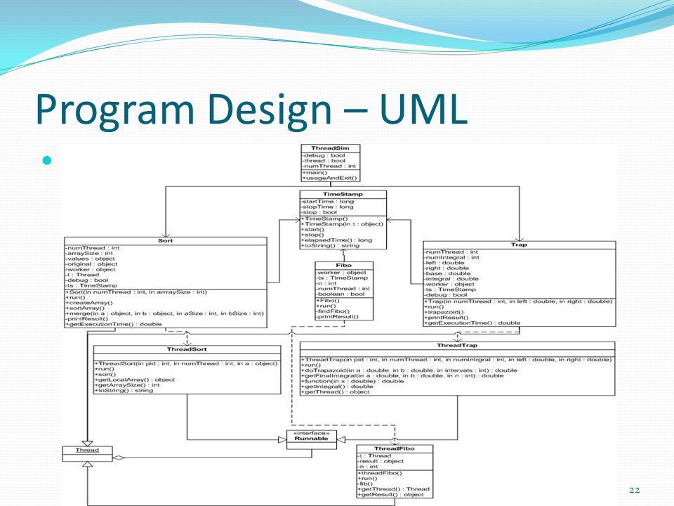 Program Design – UML 22