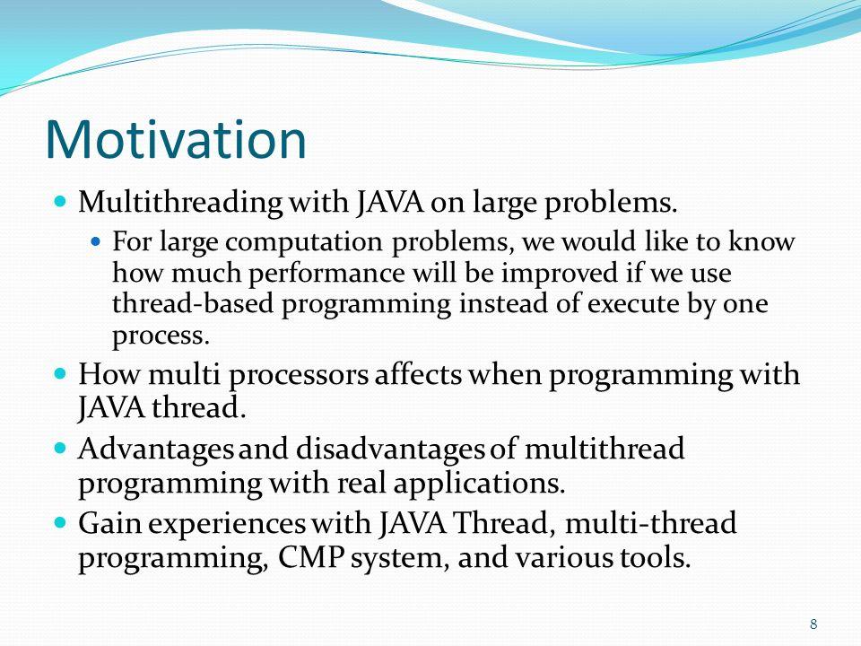 Contributions Software : A JAVA program benchmark.