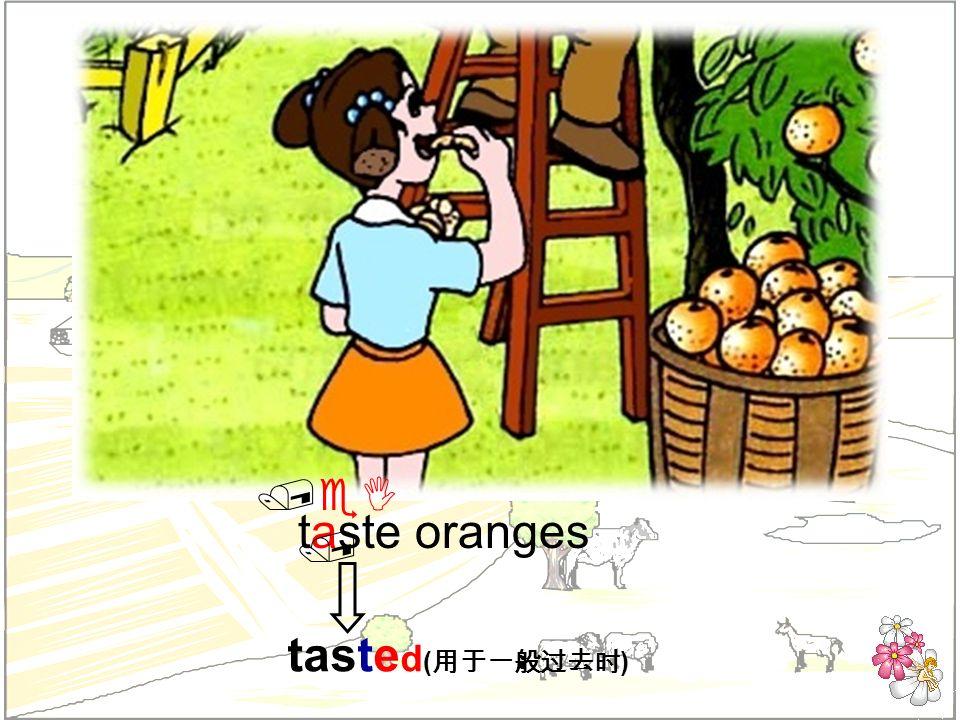 taste oranges taste d ( ) /eI /