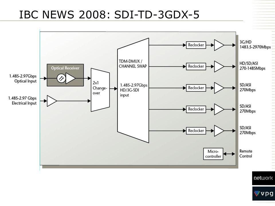 IBC NEWS 2008: SDI-TD-3GDX-5