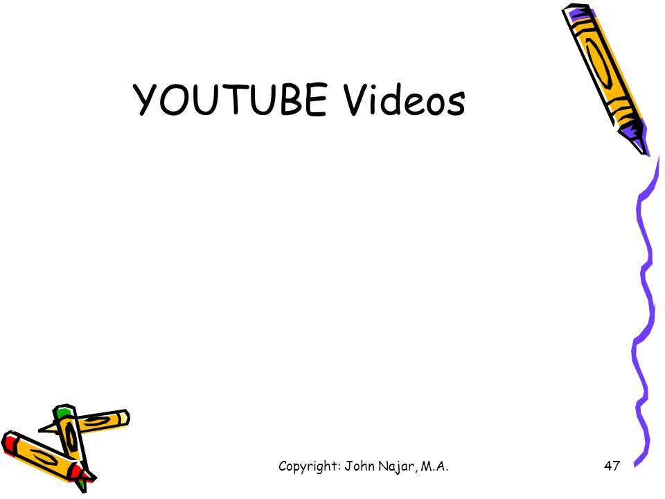 Copyright: John Najar, M.A.47 YOUTUBE Videos