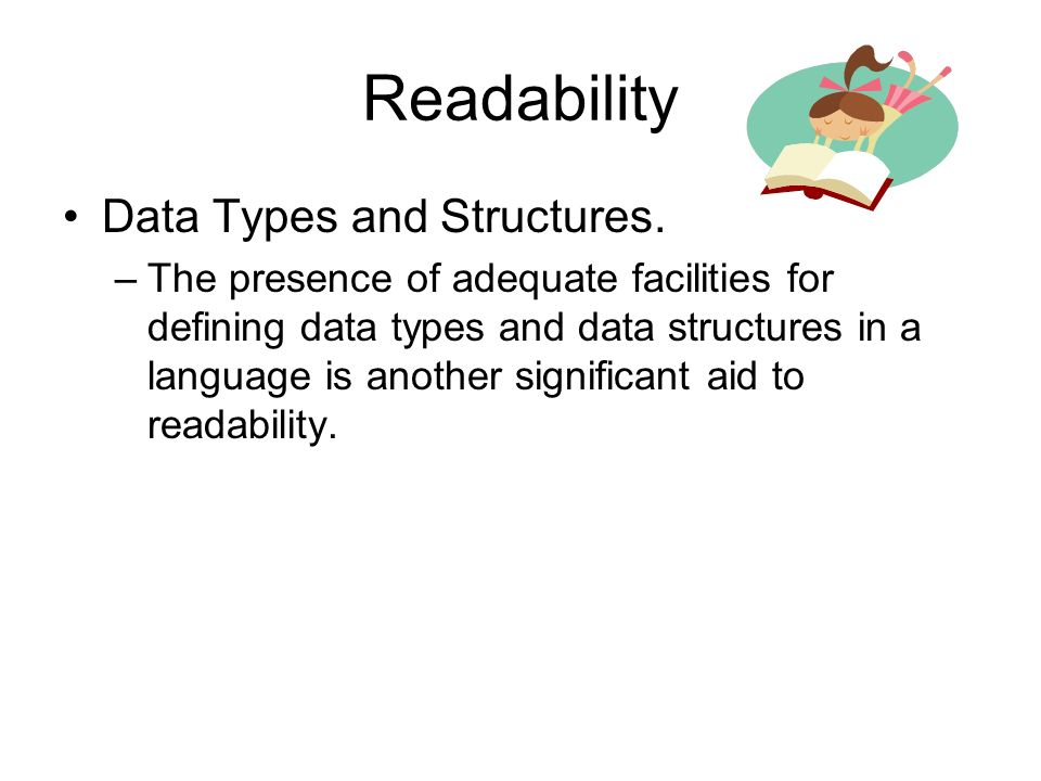 Readability Data Types and Structures.