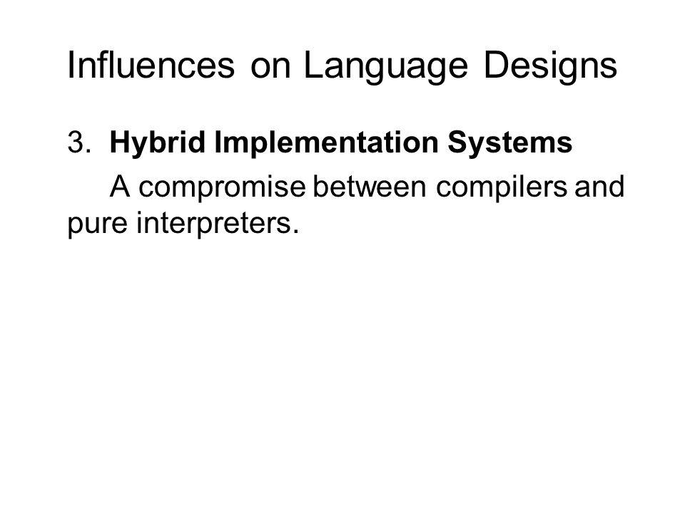 Influences on Language Designs 3.