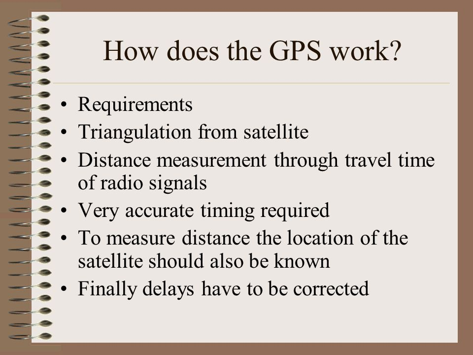 GPS Satellite Signal: L1 freq. (1575.42 Mhz) carries the SPS code and the navigation message. L2 freq. (1227.60 Mhz) used to measure ionosphere delays
