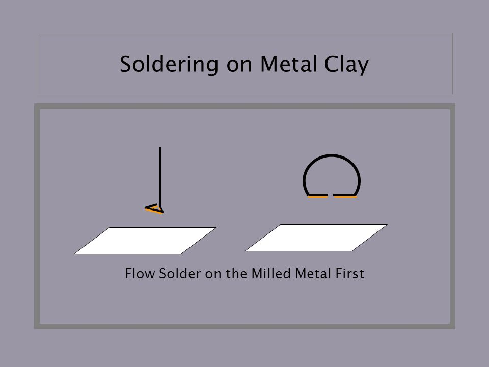 Soldering on Metal Clay Flow Solder on the Milled Metal First