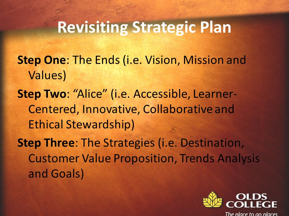 Revisiting Strategic Plan Step One: The Ends (i.e.