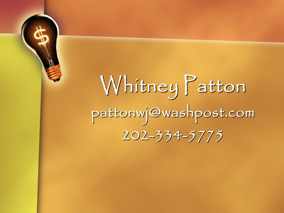 Whitney Patton pattonwj@washpost.com202-334-5775
