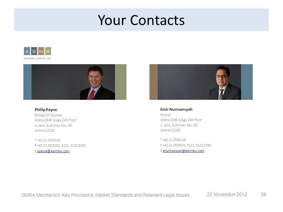 56 Philip Payne Foreign Of Counsel Graha CIMB Niaga 24th Floor Jl. Jend. Sudirman Kav. 58 Jakarta 12190 T +62 21 2505125 F +62 21 2505001, 5121, 5122,