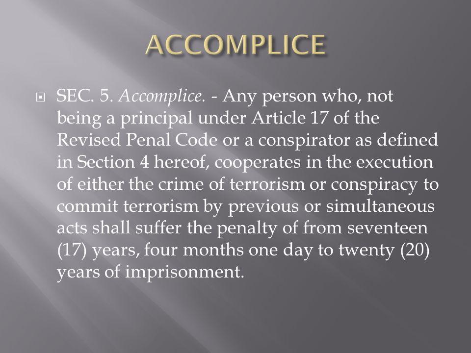 SEC. 5. Accomplice.