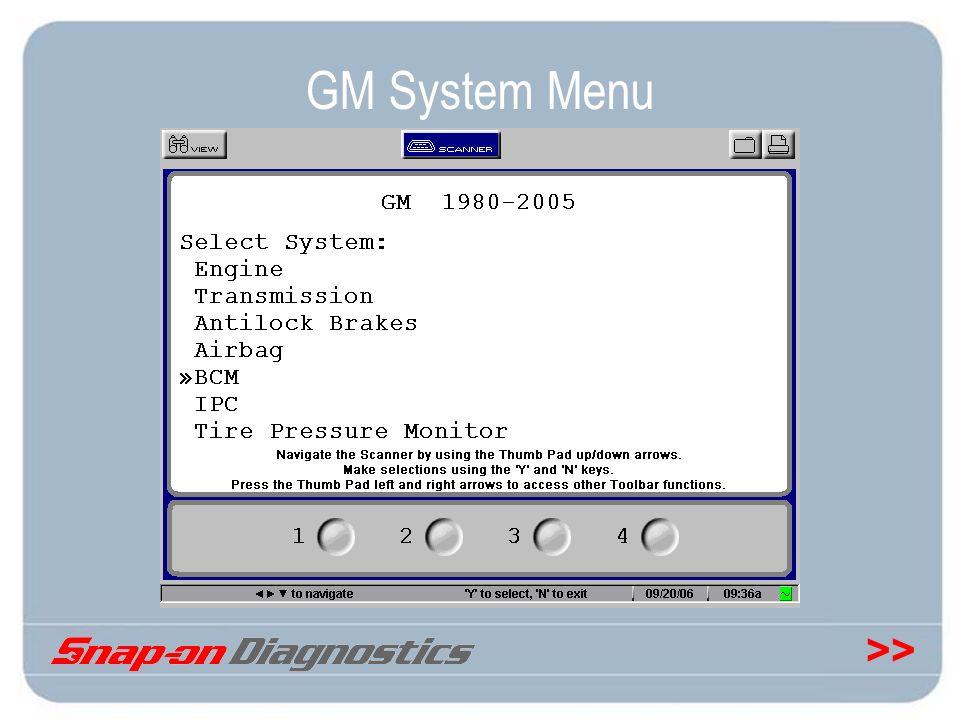 >> GM System Menu