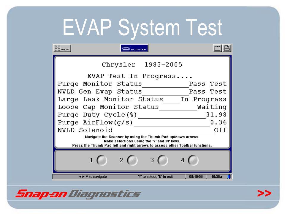 >> EVAP System Test