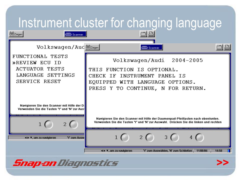 >> Instrument cluster for changing language