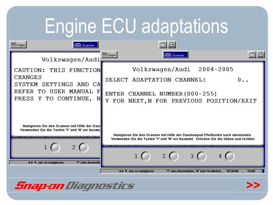 >> Engine ECU adaptations