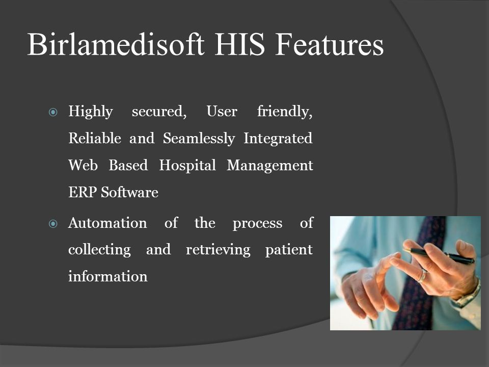 Highly secured, User friendly, Reliable and Seamlessly Integrated Web Based Hospital Management ERP Software Automation of the process of collecting a
