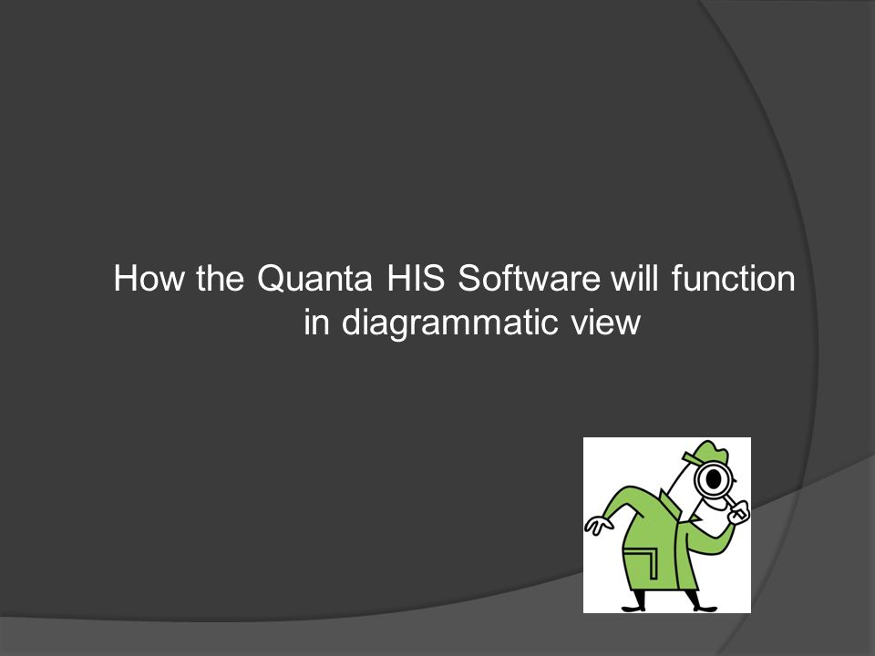 How the Quanta HIS Software will function in diagrammatic view
