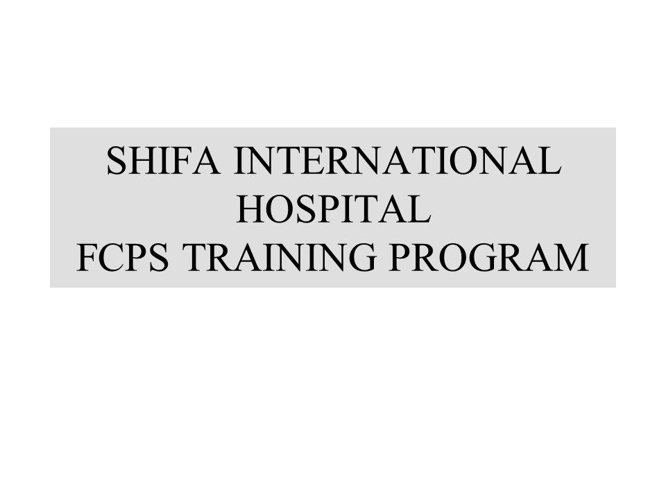 SHIFA INTERNATIONAL HOSPITAL FCPS TRAINING PROGRAM