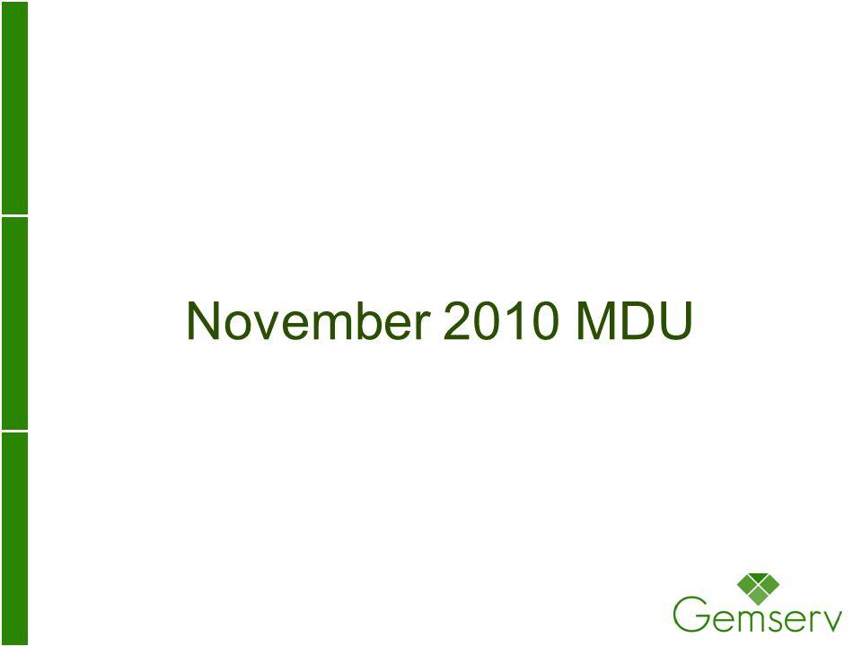 November 2010 MDU