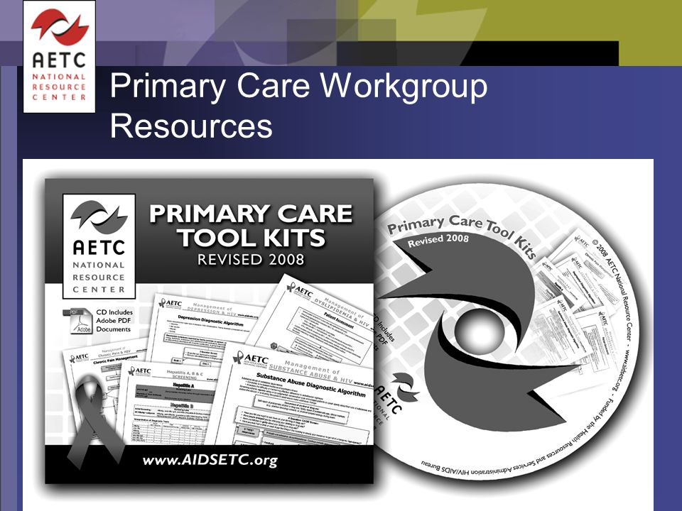 Primary Care Workgroup Resources
