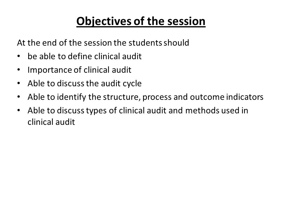 What is clinical audit.