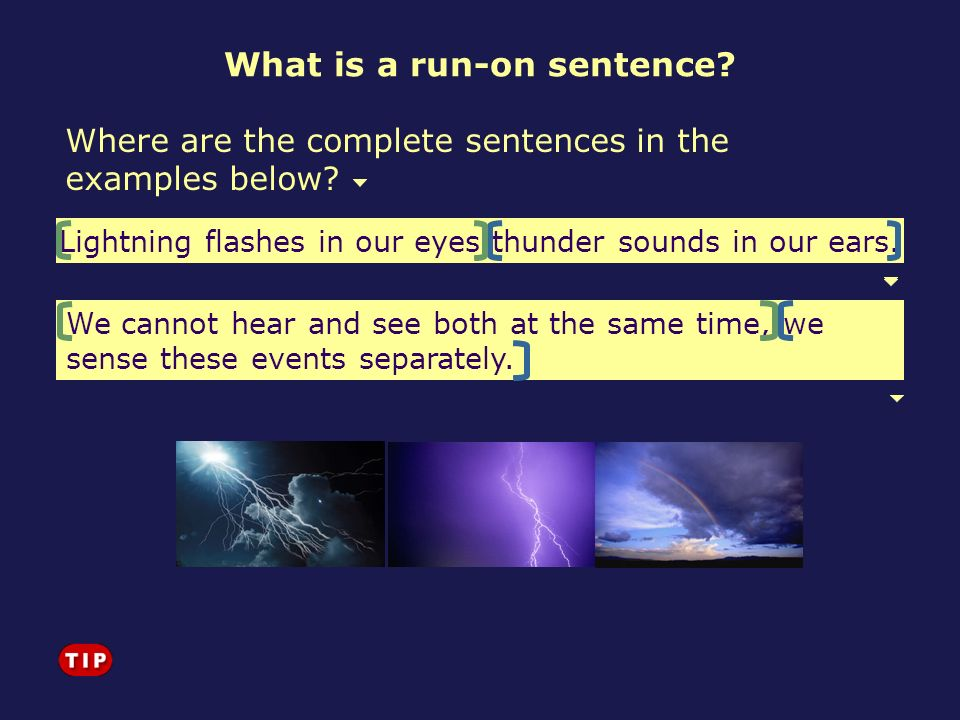 We cannot hear and see both at the same time, we sense these events separately. Lightning flashes in our eyes thunder sounds in our ears. Where are th