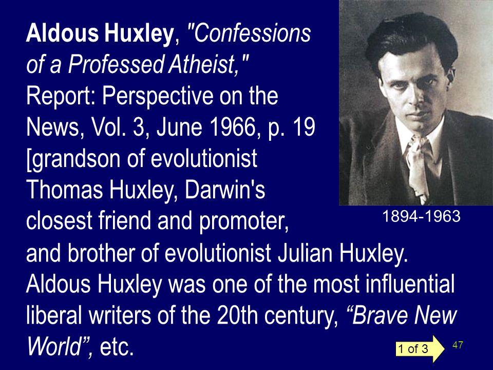 47 Aldous Huxley,