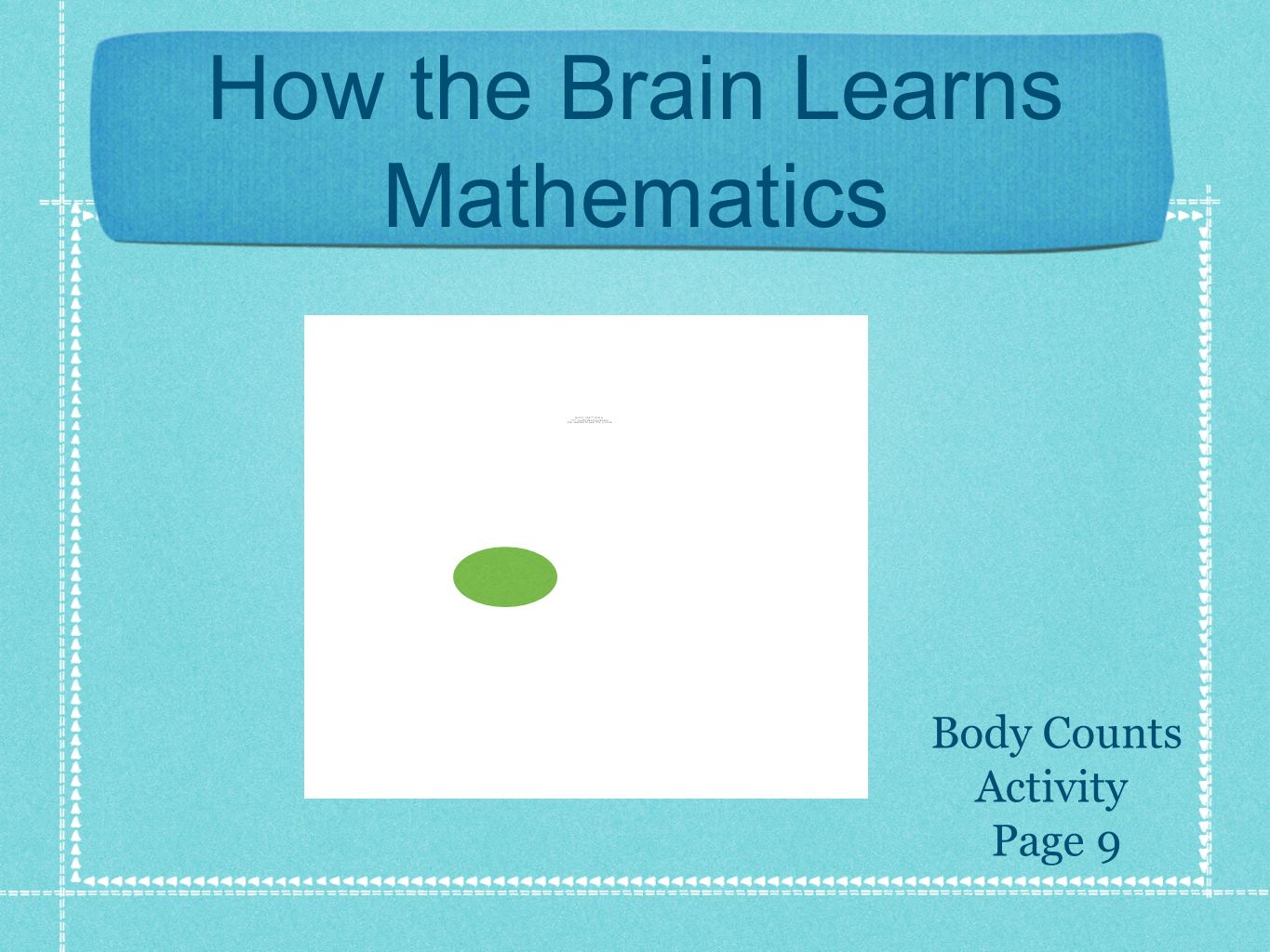 How the Brain Learns Mathematics Body Counts Activity Page 9