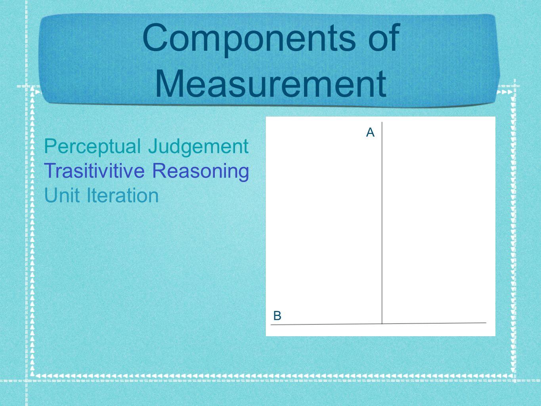 Components of Measurement A B Perceptual Judgement Trasitivitive Reasoning Unit Iteration