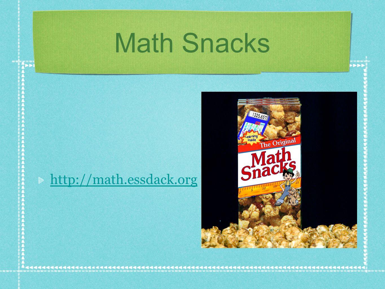 Math Snacks http://math.essdack.org
