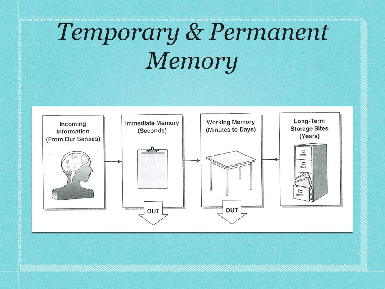 Temporary & Permanent Memory
