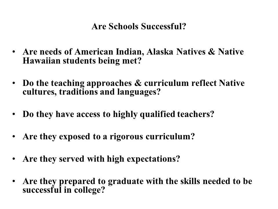 Are Schools Successful.