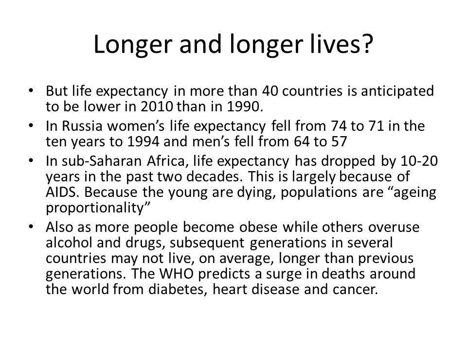 Longer and longer lives.