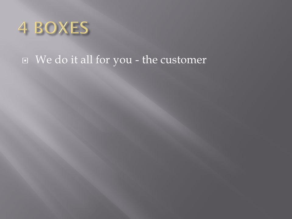 We do it all for you - the customer