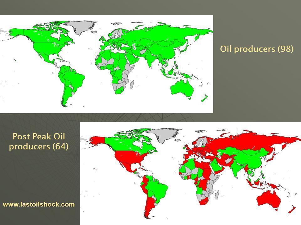 25 www.lastoilshock.com Oil producers (98) Post Peak Oil producers (64)