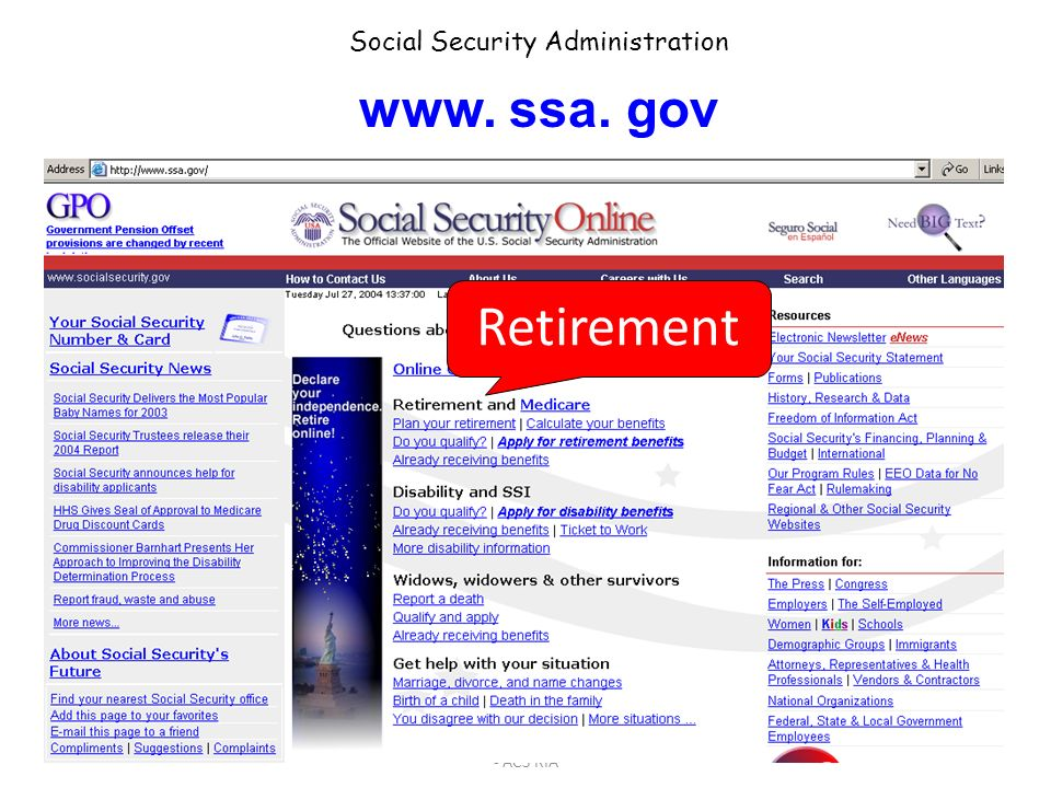Basic Retirement Financial Planning- Part 3 - ACS RIA 43 www. mymoney. gov From the Dept. of the Treasury and the FTC