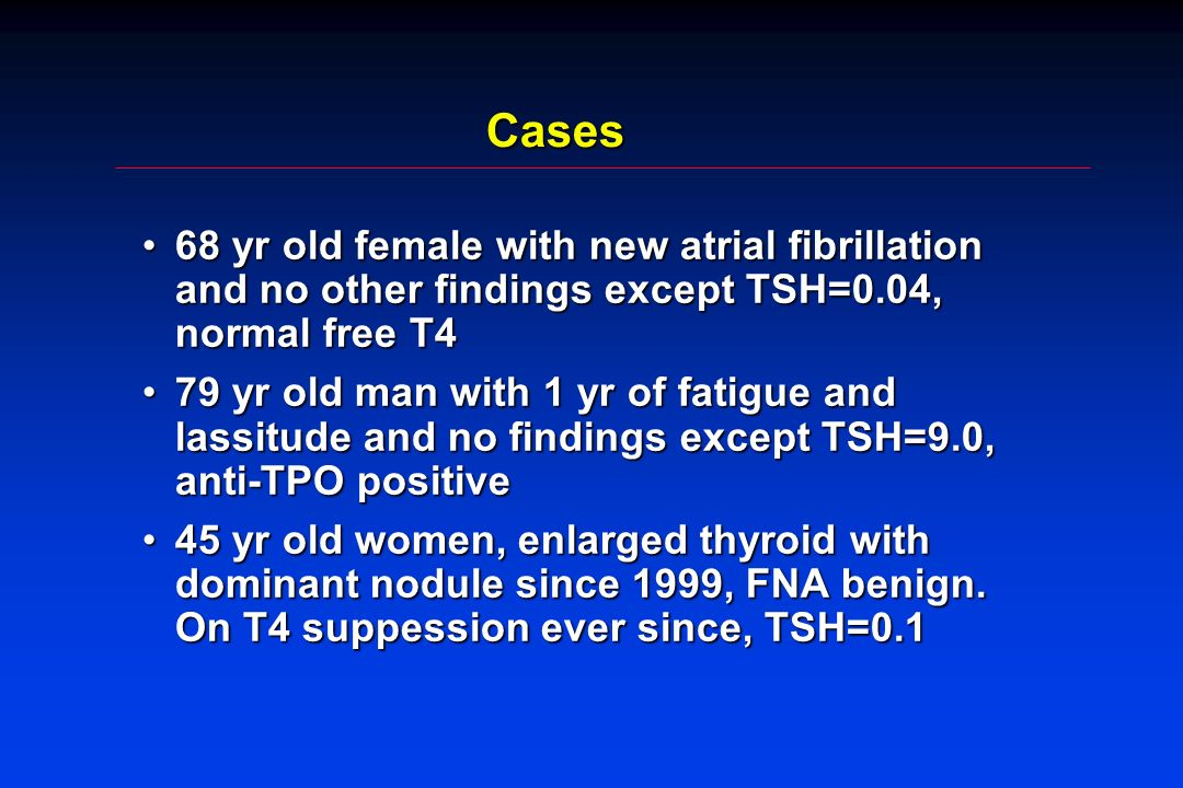 Radioiodine and Mortality Franklyn, 1998 - 7209 hyperthyroid pts, 15 yr follow-up - All cause mortality: 13% higher than age and sex matched populations - CV deaths increased, but not cancerFranklyn, 1998 - 7209 hyperthyroid pts, 15 yr follow-up - All cause mortality: 13% higher than age and sex matched populations - CV deaths increased, but not cancer Mechanism unknown, clear dose-responseMechanism unknown, clear dose-response Unable to adjust for other potential confoundersUnable to adjust for other potential confounders