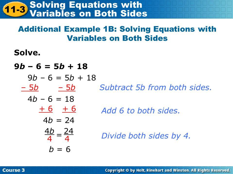 Multiply by the LCD, 24.6y + 20y + 18 = 24y – 18 26y + 18 = 24y – 18Combine like terms.