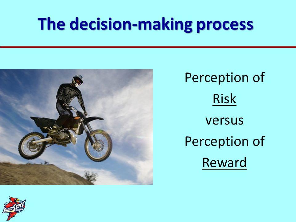 The decision-making process Perception of Risk versus Perception of Reward