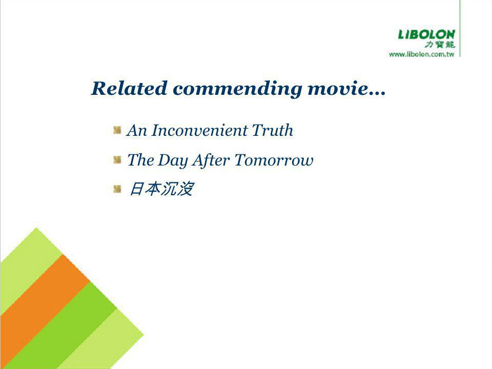 Related commending movie… An Inconvenient Truth The Day After Tomorrow
