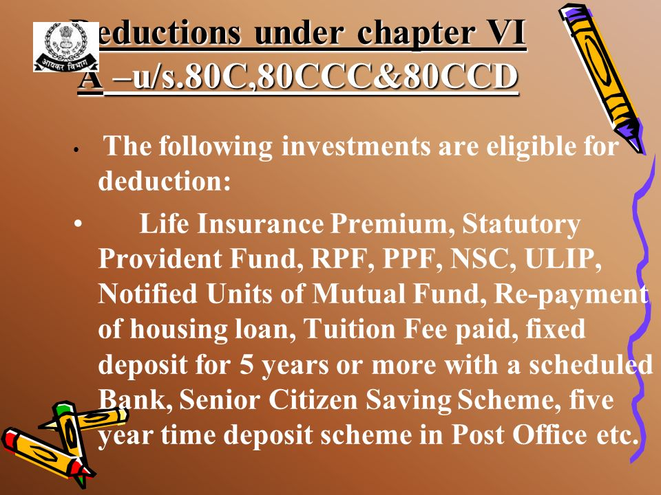 Deduction on income from House property interest up to a maximum limit of Rs. 1,50,000 is allowed –Loan taken on or after 1-4-1999 –for constructing/a