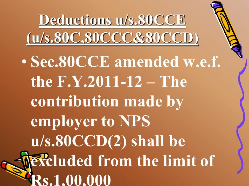 Deductions u/s.80CCE (u/s.80C,80CCC&80CCD) Amount of deduction allowable; gross qualifying amount is actual amount invested or Rs.1,00,000 which ever