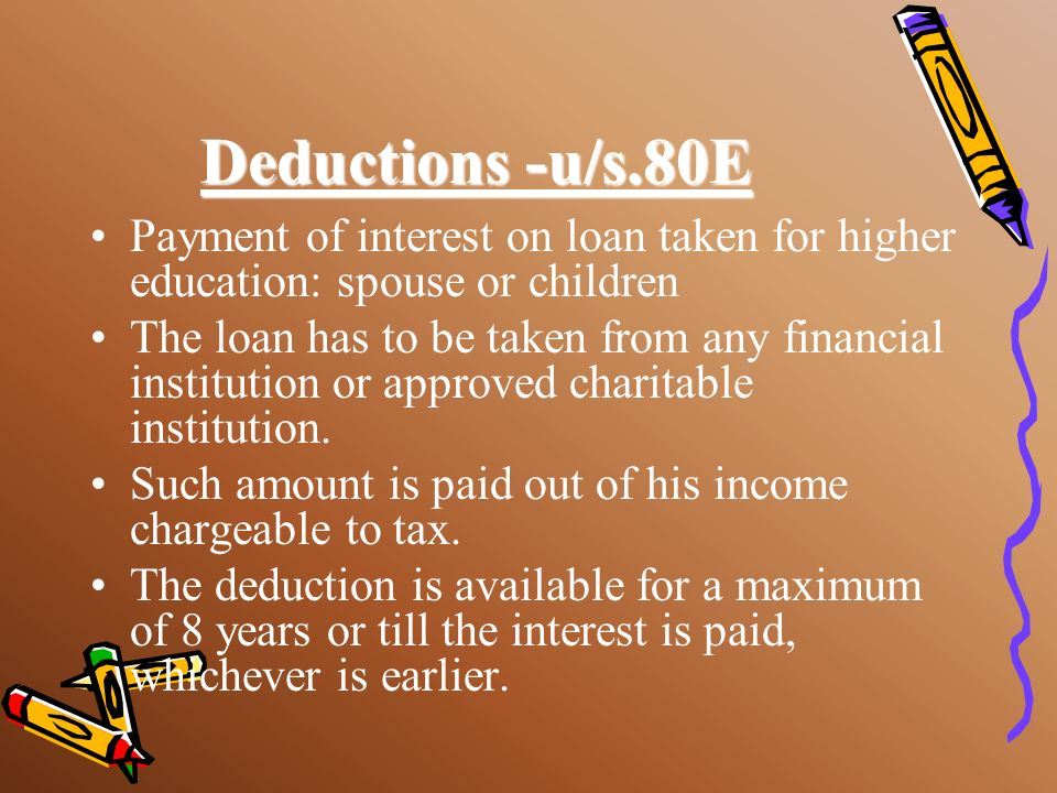 Deduction u/s.80DDB Medical treatment of dependent or self for specified disease/ailment. Amount of deduction Rs.40,000: if the person is a senior cit