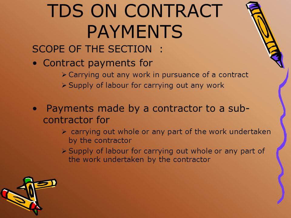 TDS ON INTEREST RATE OF TDS 10% THRESHOLD LIMITS Rs. 10,000/- in the case of payments by banks, cooperative banks and post office (in respect of senio